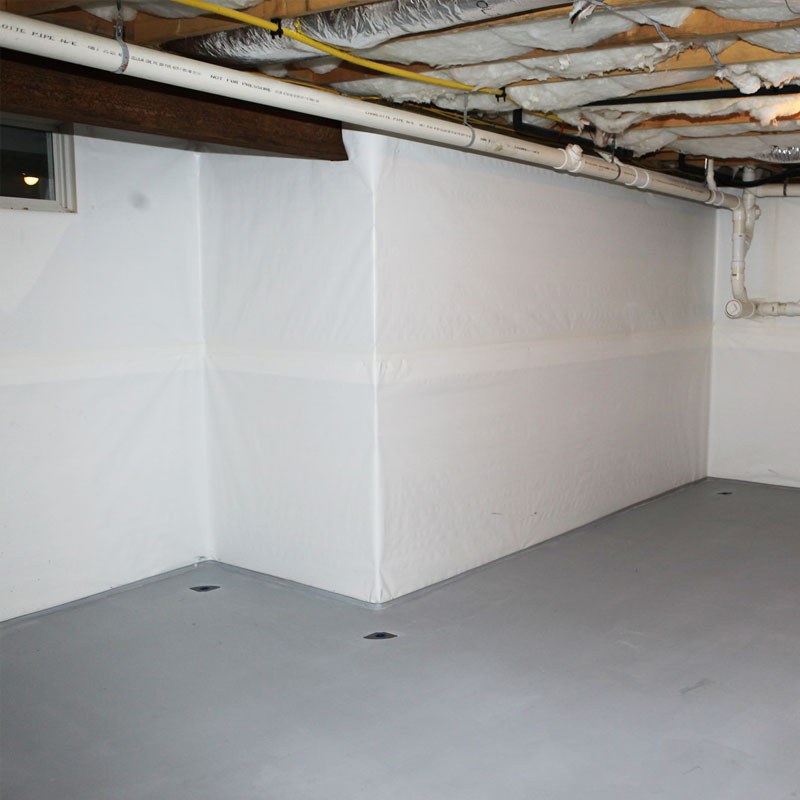Crawlshield Vapor Barrier to protect from mold, moisture and much more